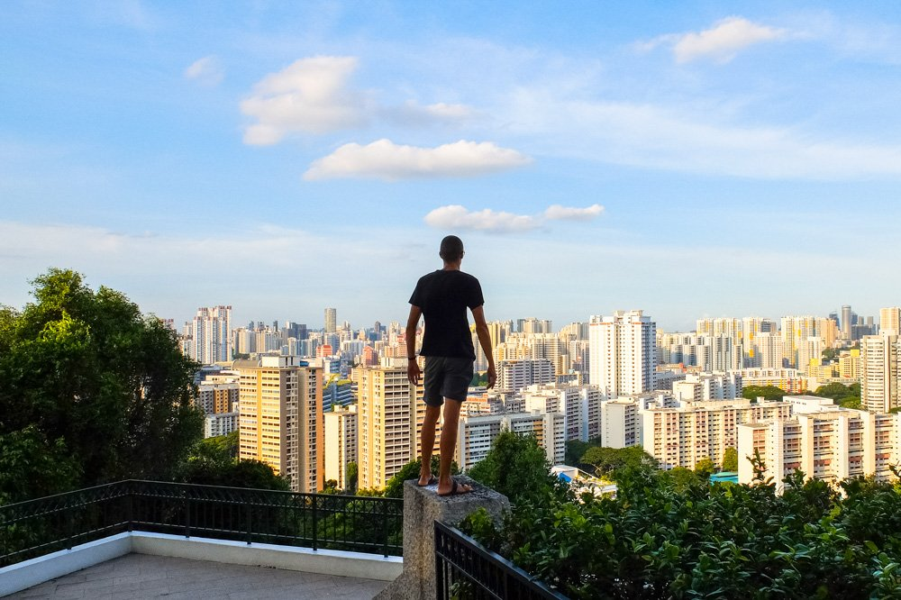 Kaspars hiking in Singapore