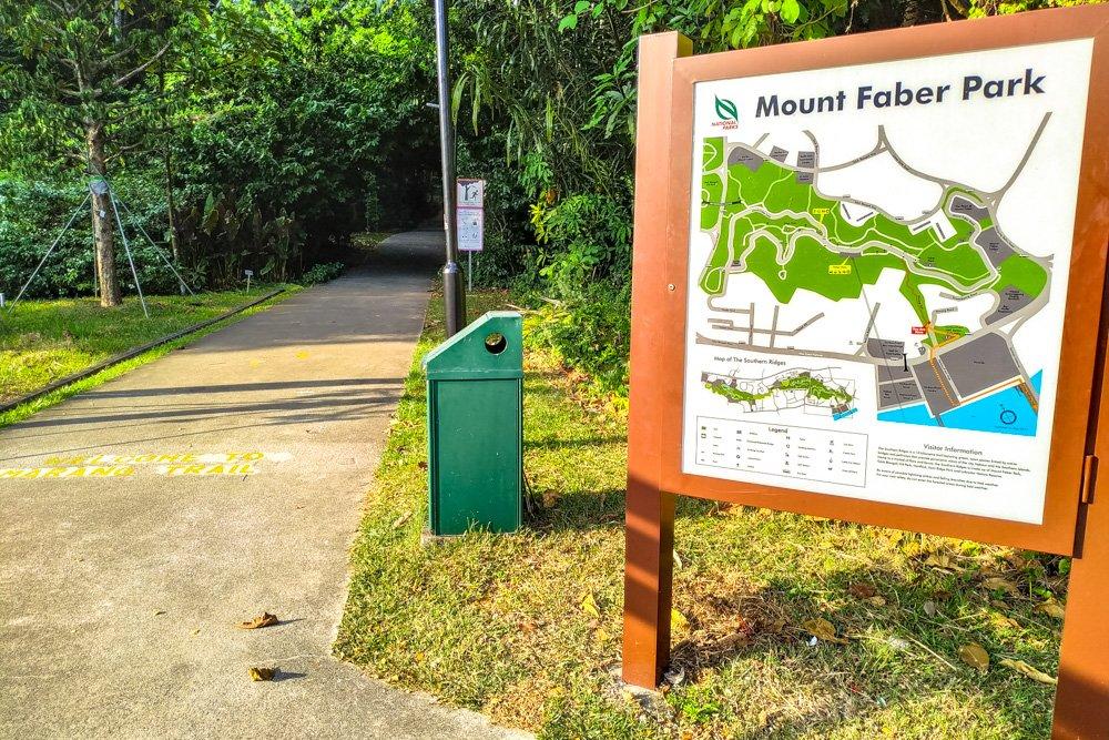 Mount Faber Park map