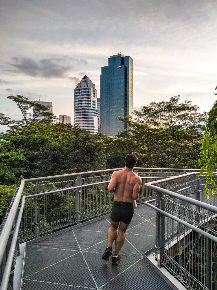 Pedestrian bridge in Singapore