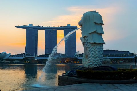 Sunrise at Marina Bay Sands, Singapore