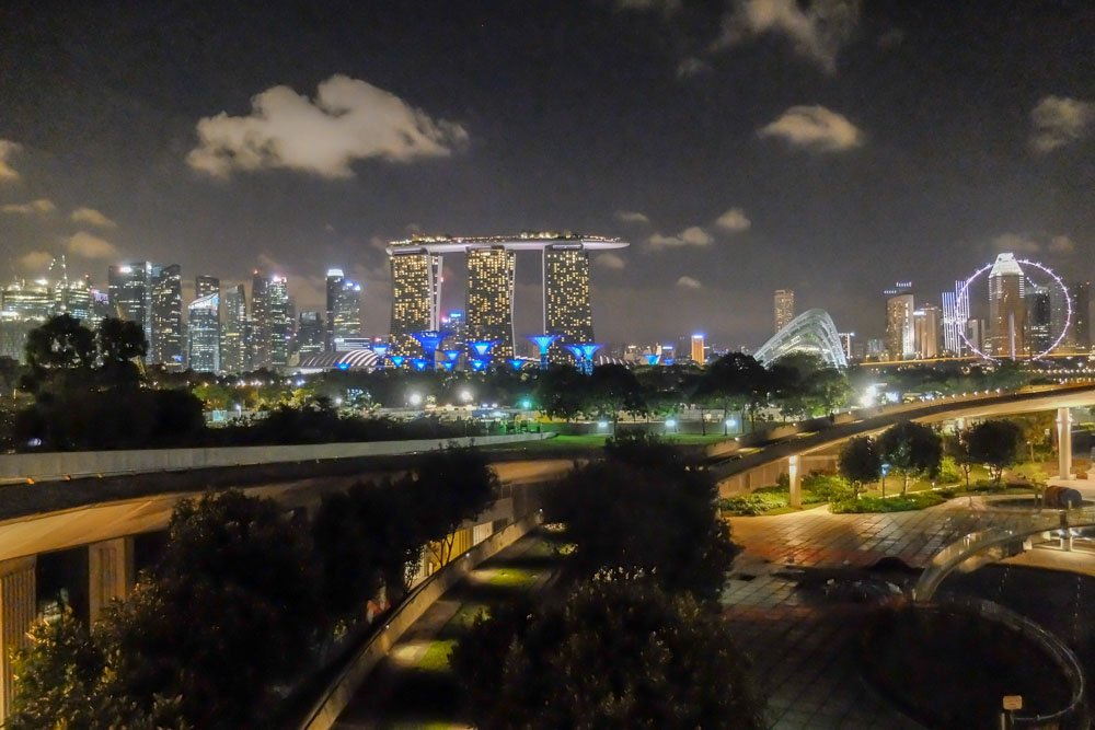 The view from Marina Barrage