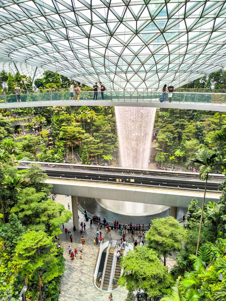 Waterfall at Singapore Changi airport
