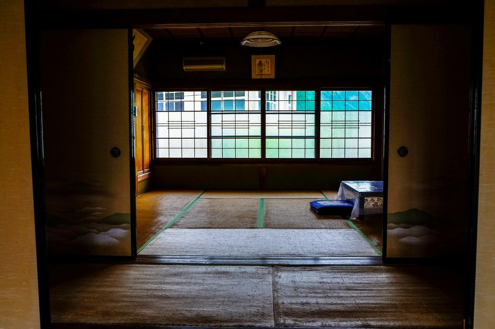 A room in a traditional Japanese ryokan