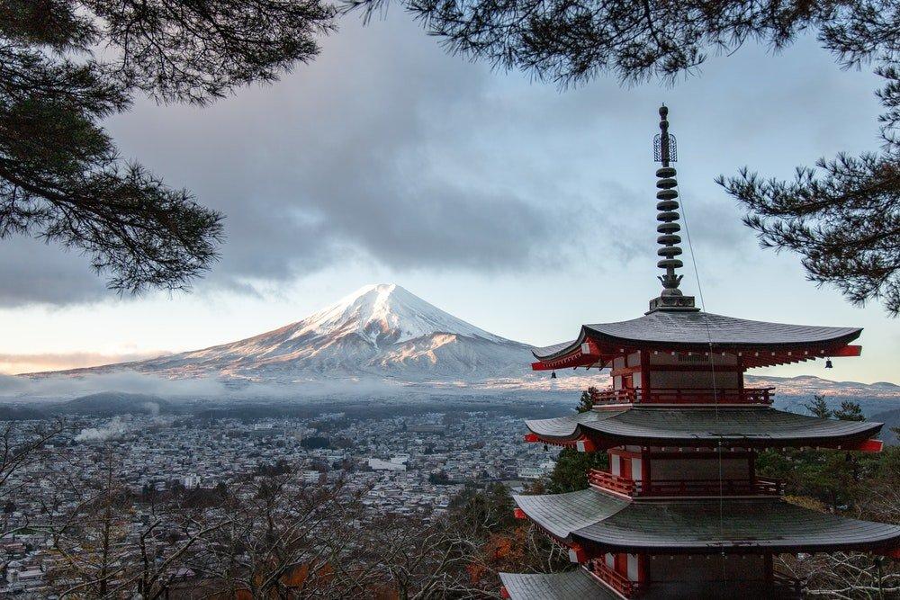 Mountain Fuji in distance
