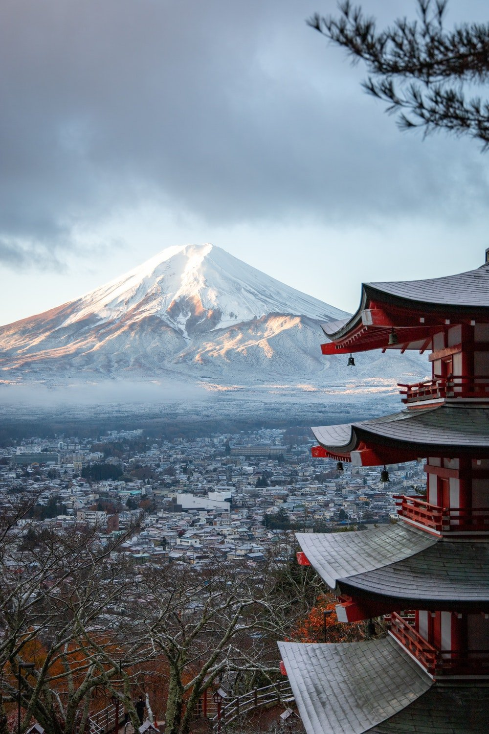 The view of mount Fuji in Japan