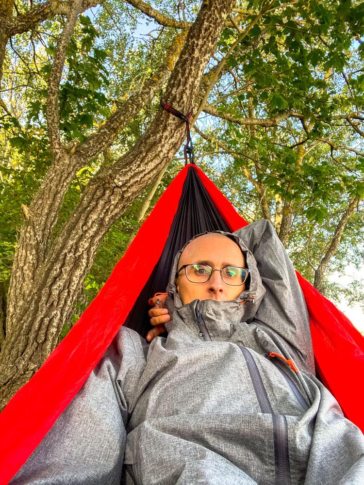 Kaspars in hammock