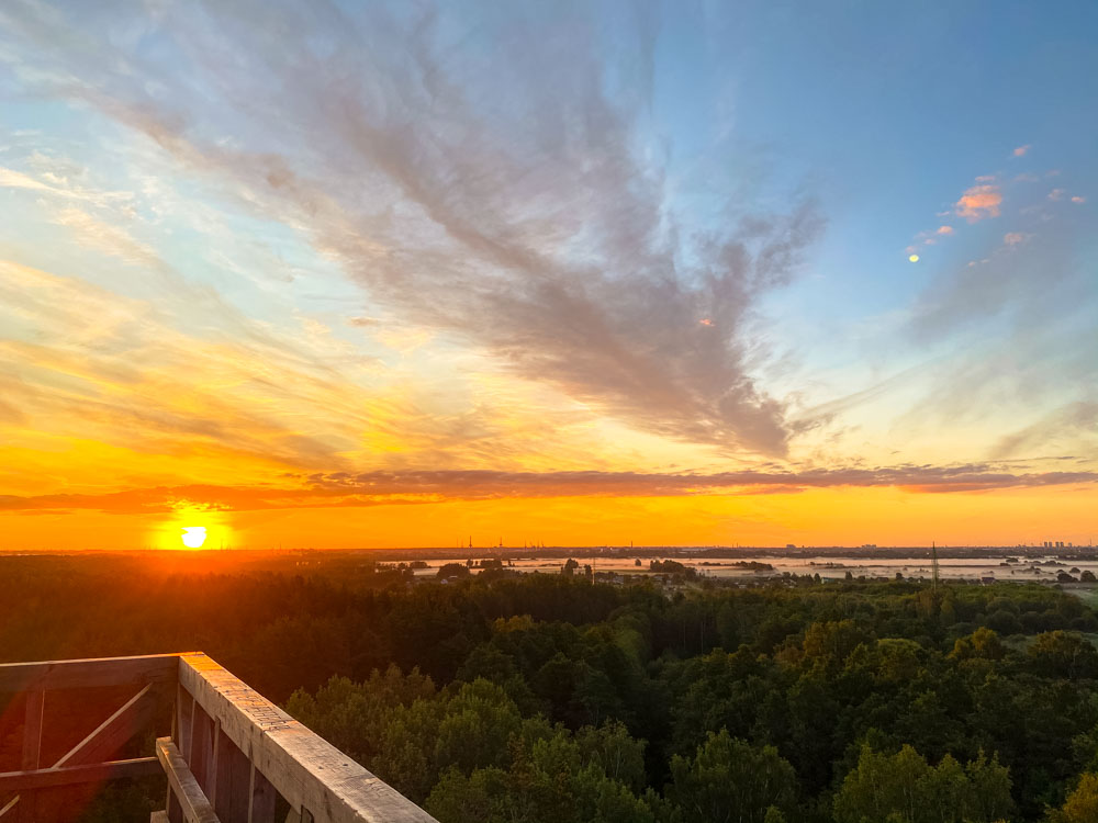 Sunrise in Riga - from the Bumbu Hill Firewatch Tower