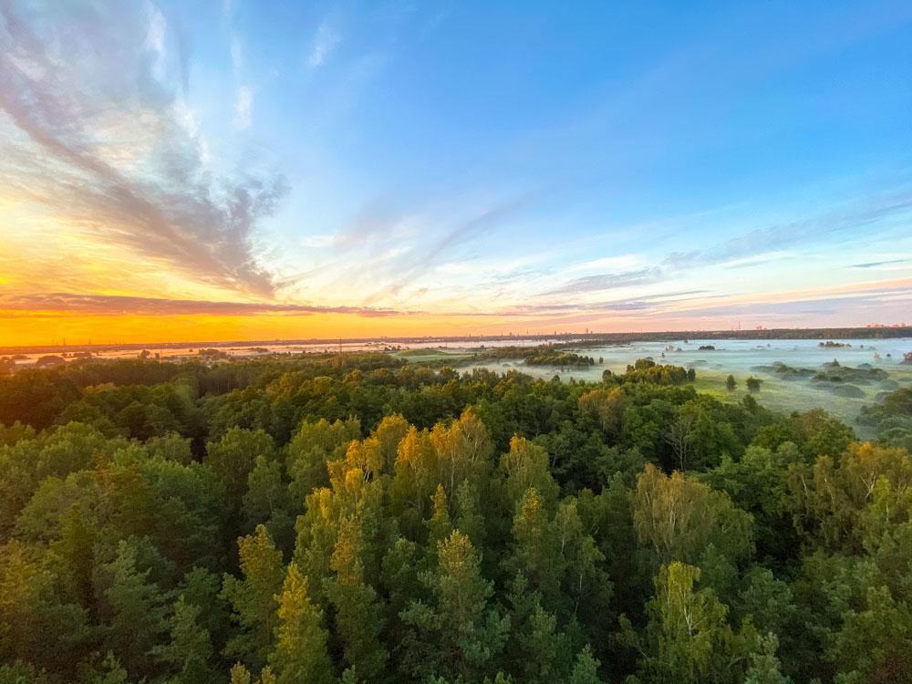 Sunrise near Riga