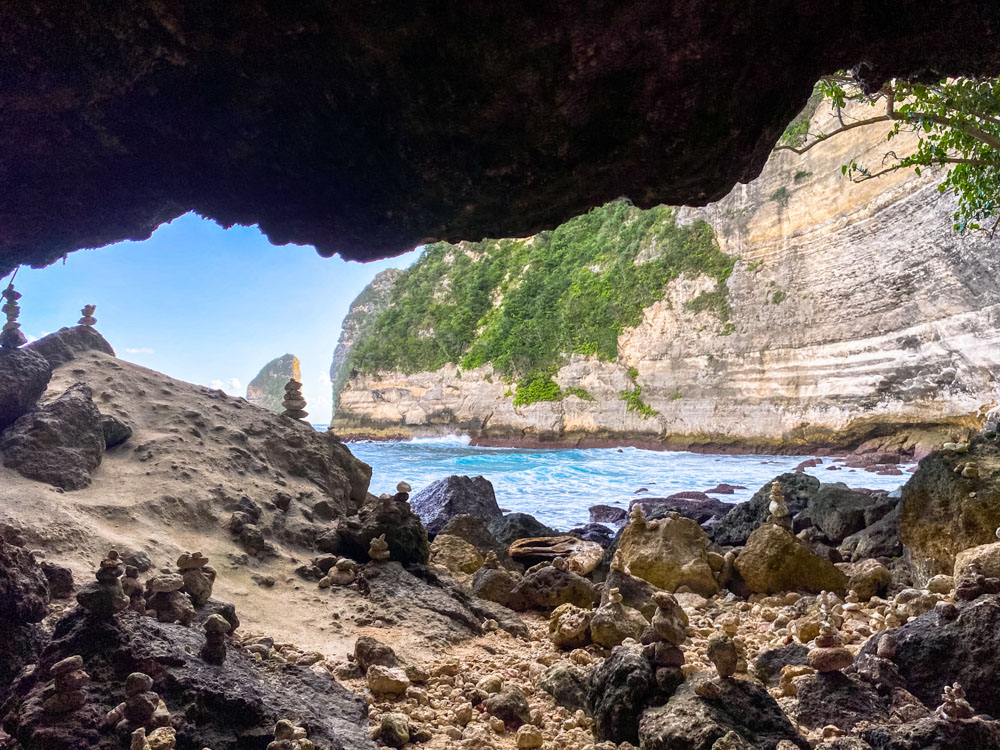 View from a cave on Nusa Penida