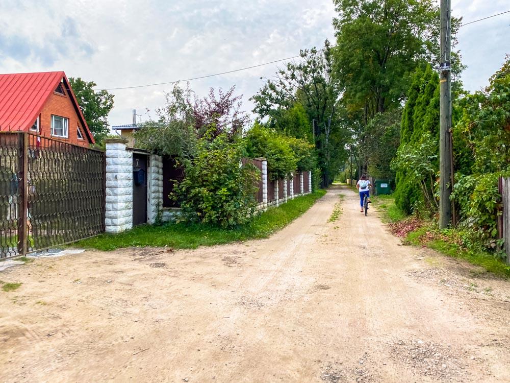 A street in Kundzinsala island, Riga