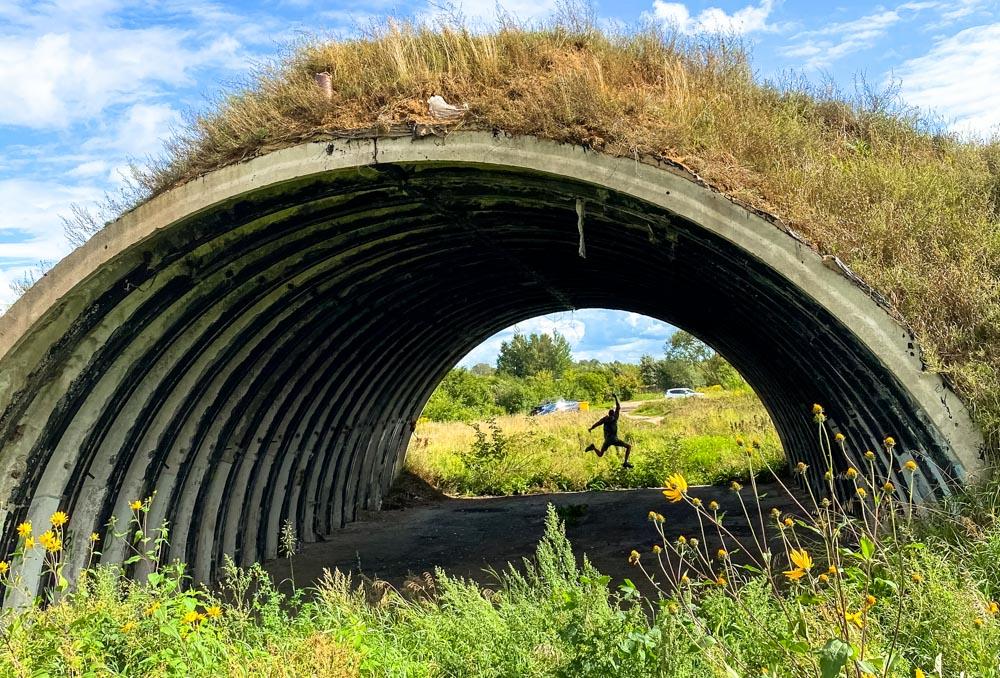 Abandoned bunker near Daugava promenade