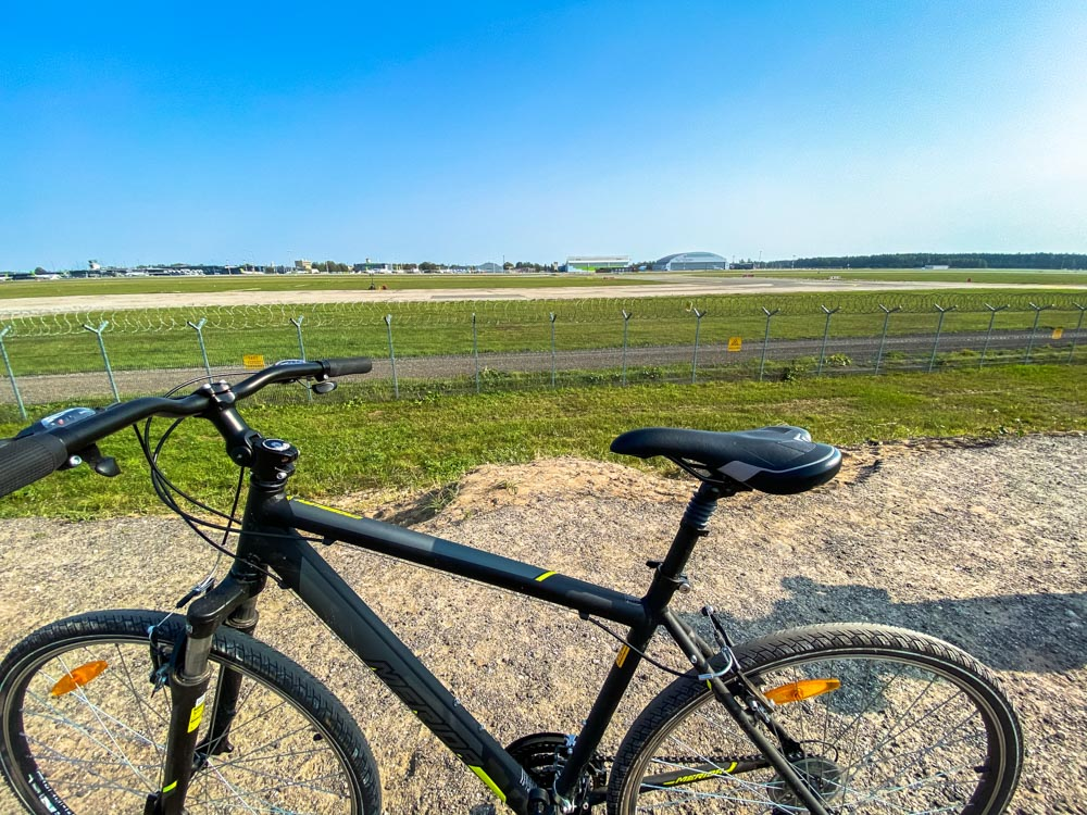 Bicycle and the airport