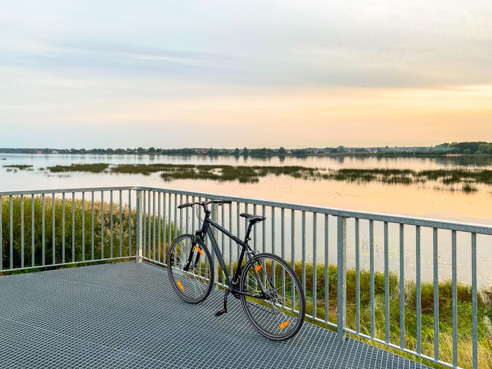 Bicycle next to river Daugava