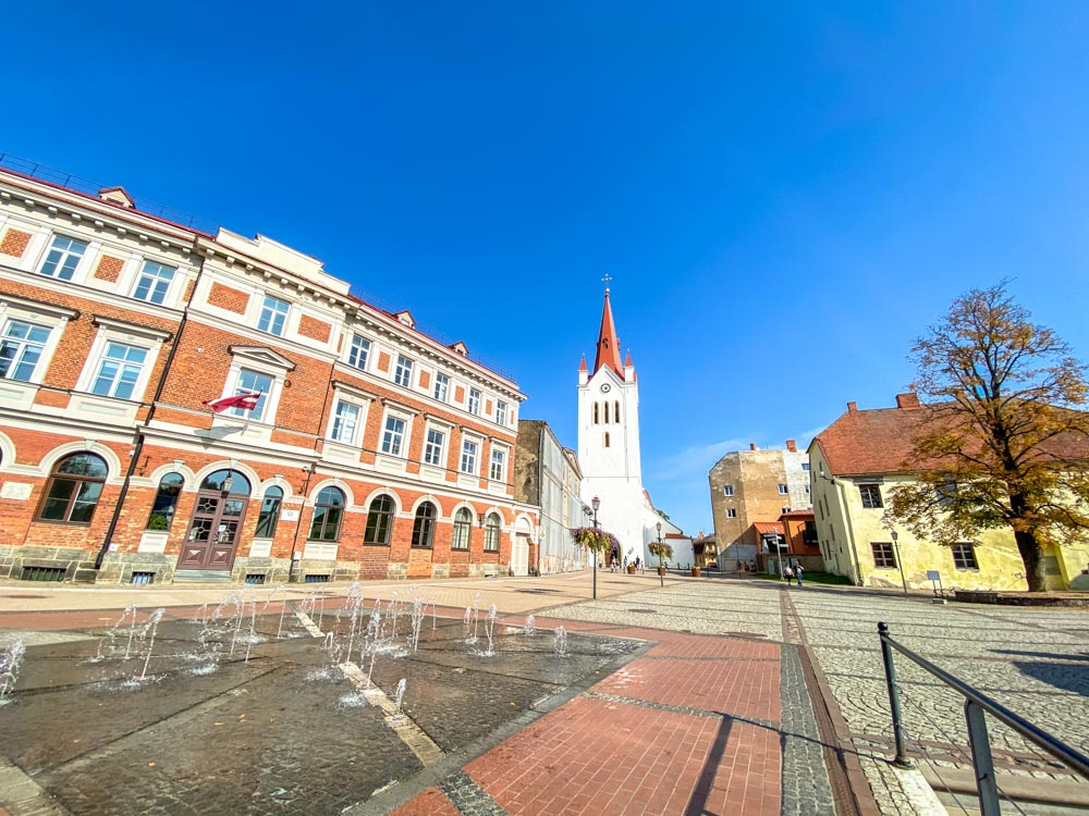 City square in Cesis