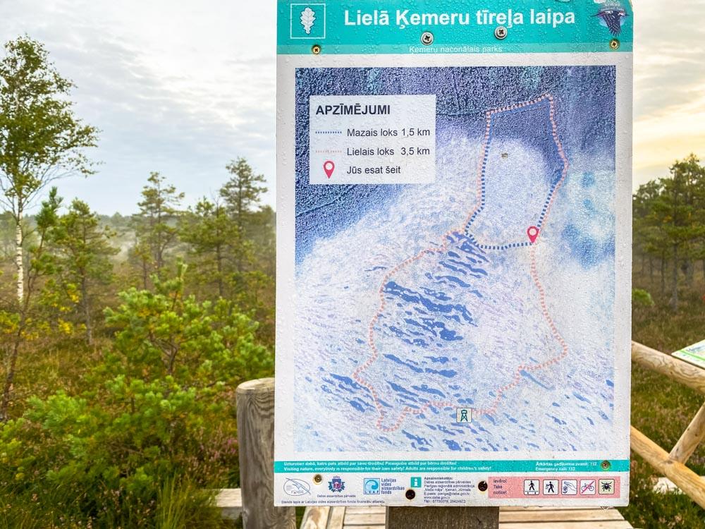 Kemeri bog trail map