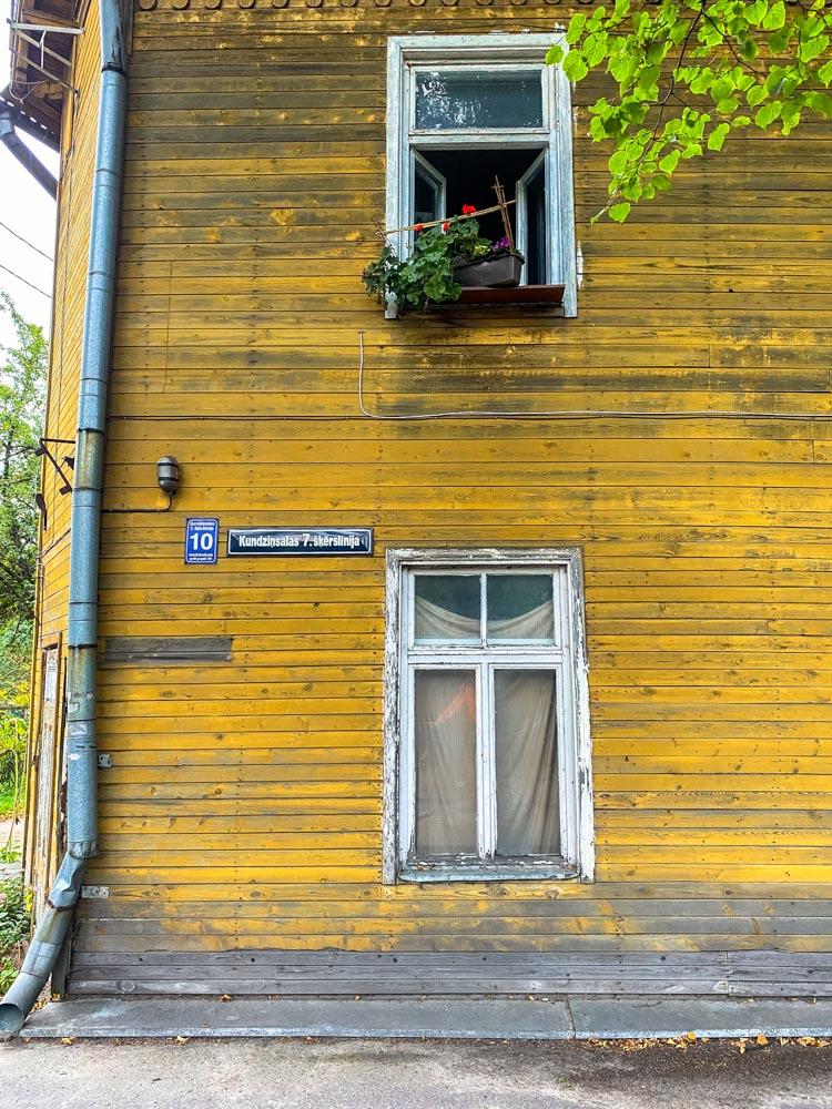 Old wooden house in Kundzinsala