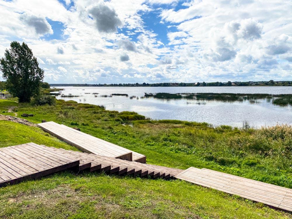 Resting place near Daugava promenade