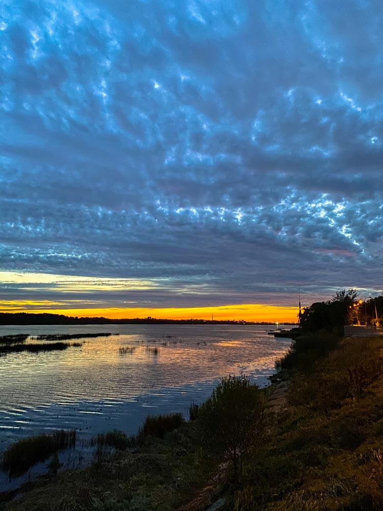 Sunset on the Daugava promenade