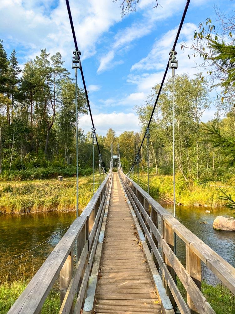 Amata river pedestrian bridge
