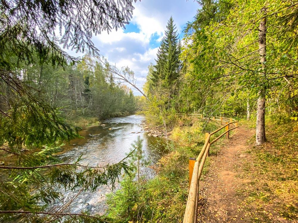 Amata trail in Latvia