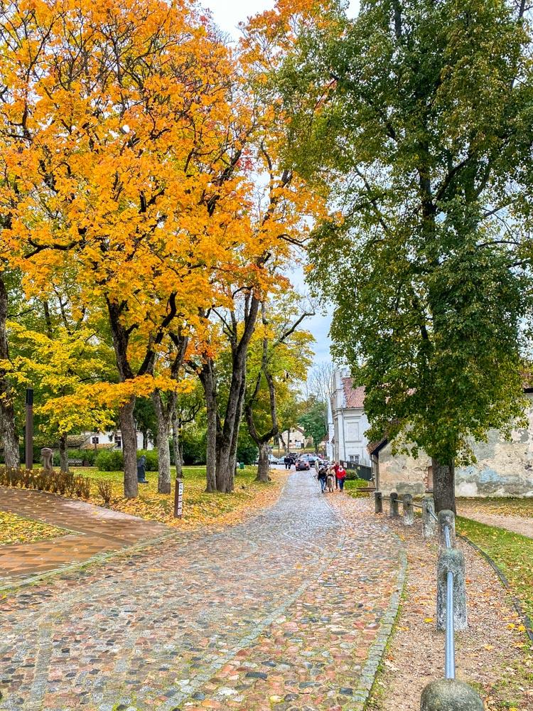 Autumn sights of Kuldiga, Latvia
