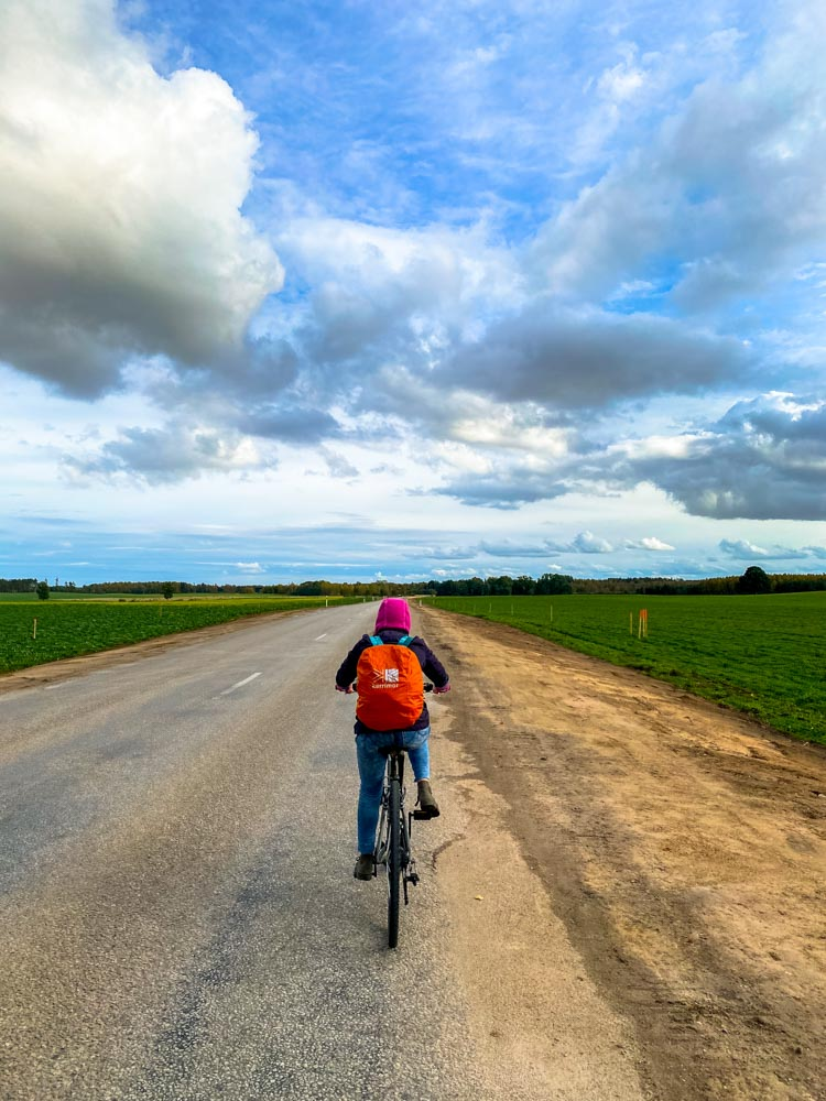Cycling to Saldus, Latvia