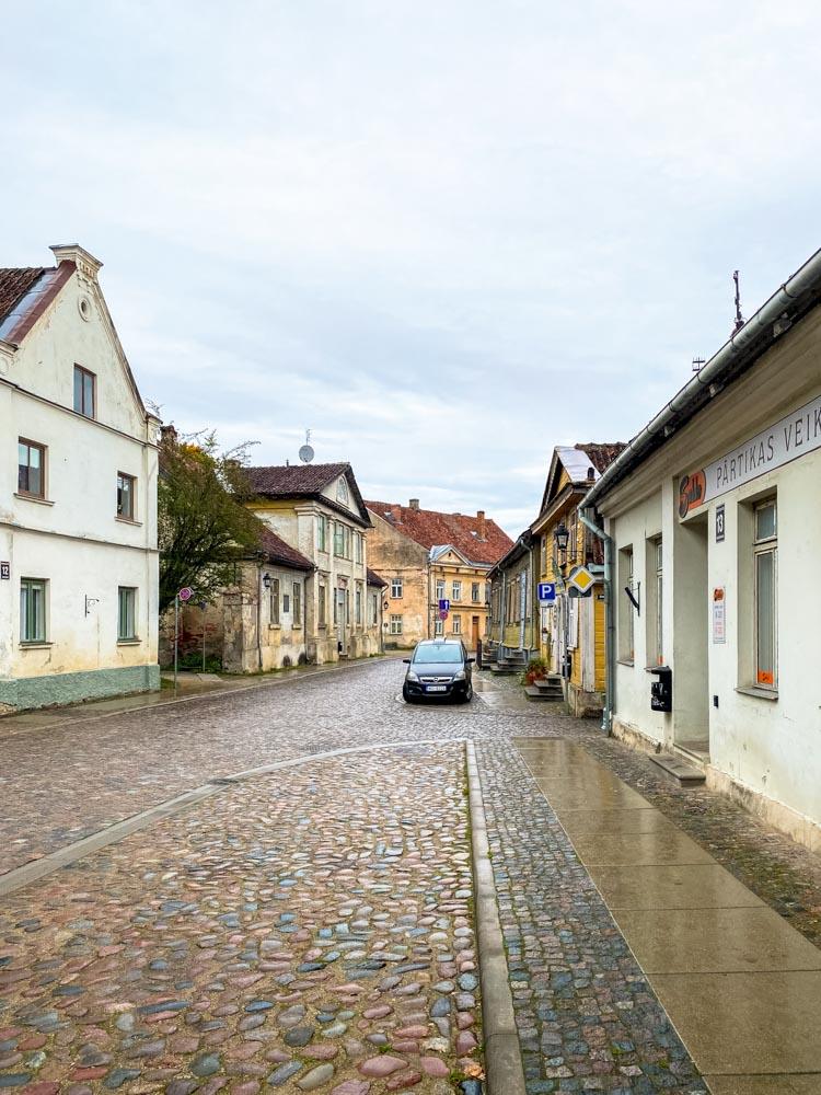 Street of Kuldiga, Latvia