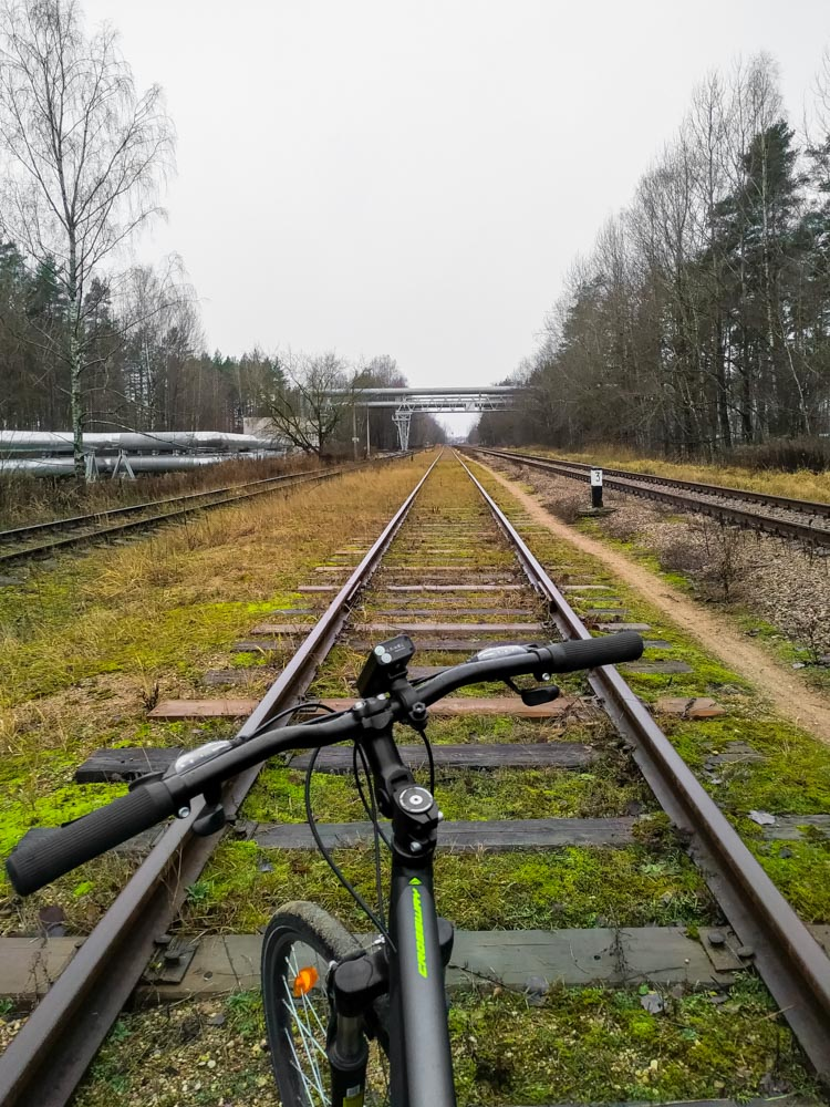 Bicycle on the rails