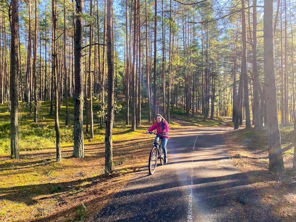 Cycling on the Riga - Jurmala Bike Path