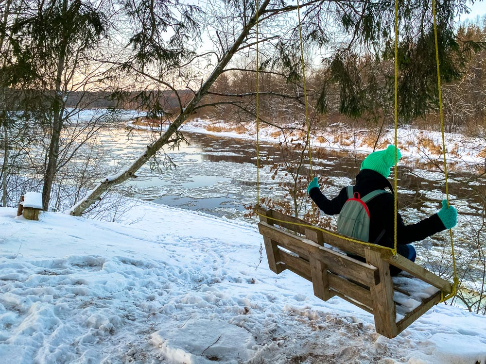 Resting next to river Gauja
