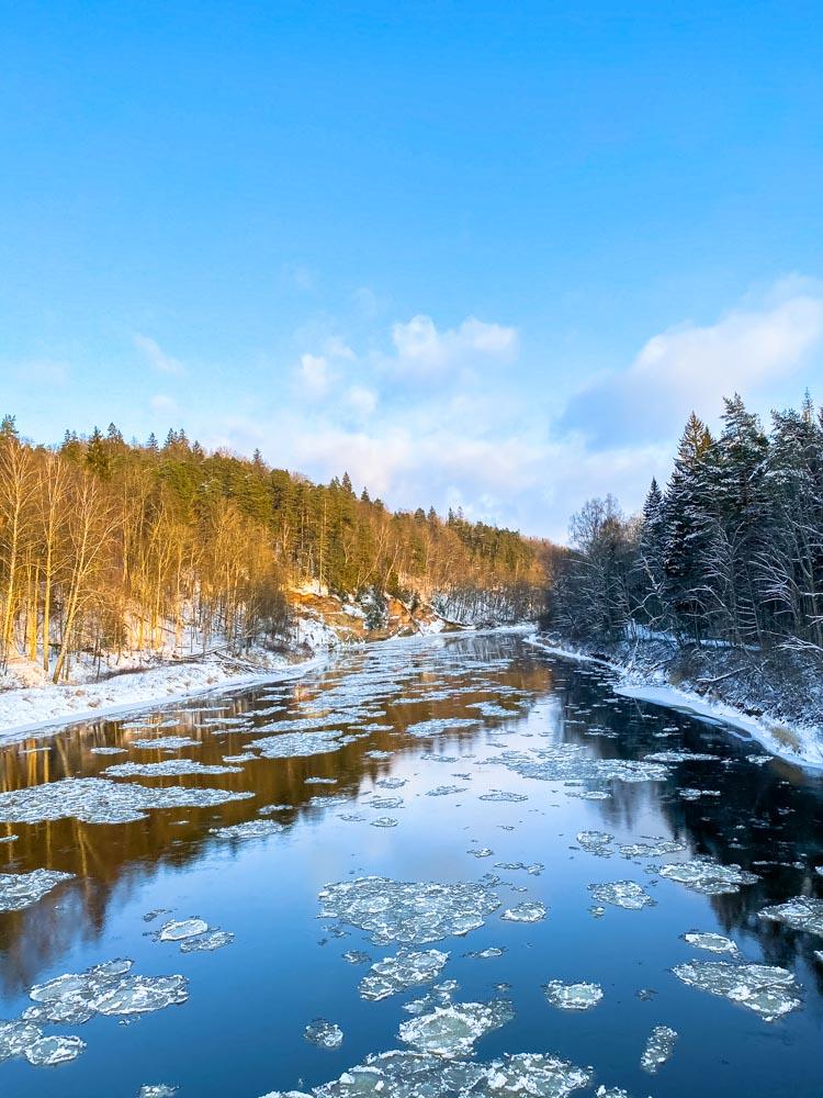 River Gauja in winter