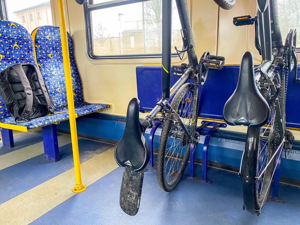 Traveling by train with a bicycle in Latvia