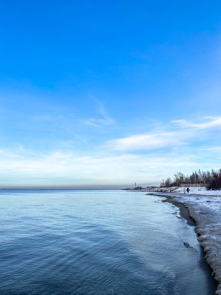 Daugavgriva beach during the winter