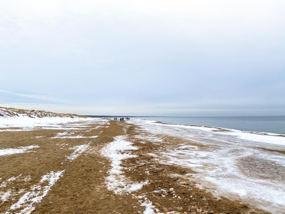 Daugavgriva beach hike during the winter
