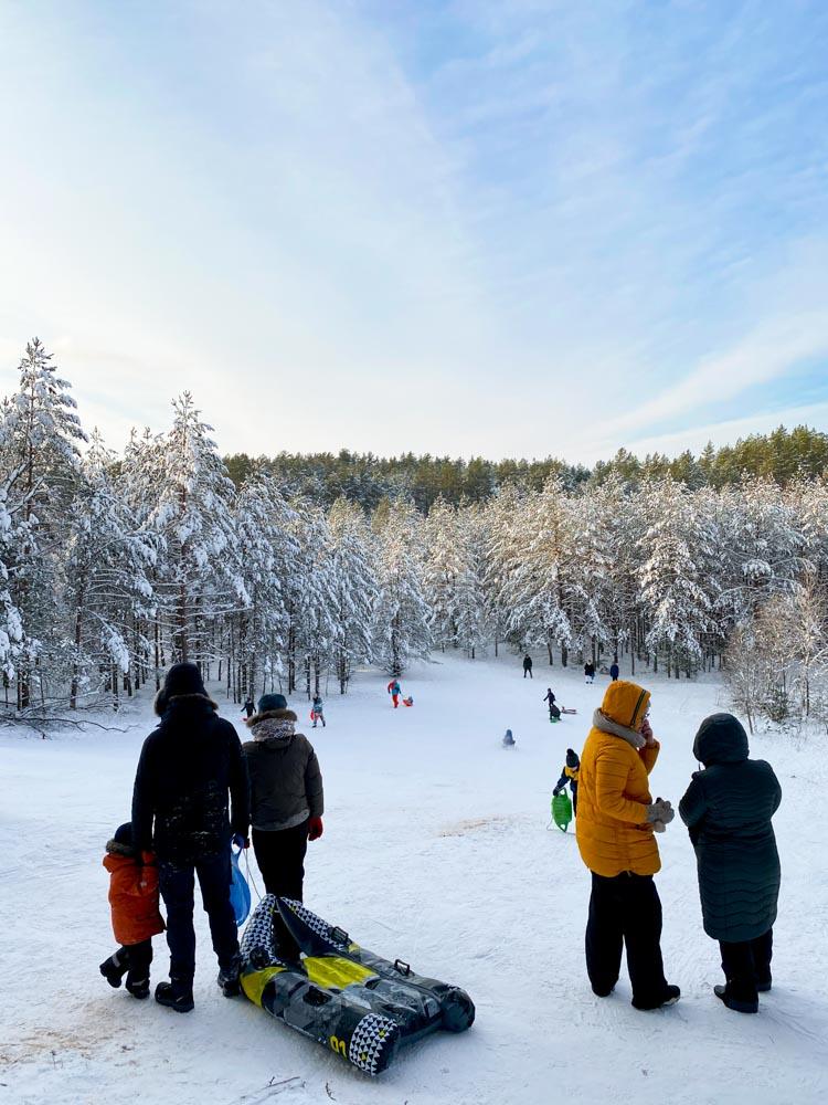 Kids having fun in the forest near Garkalne