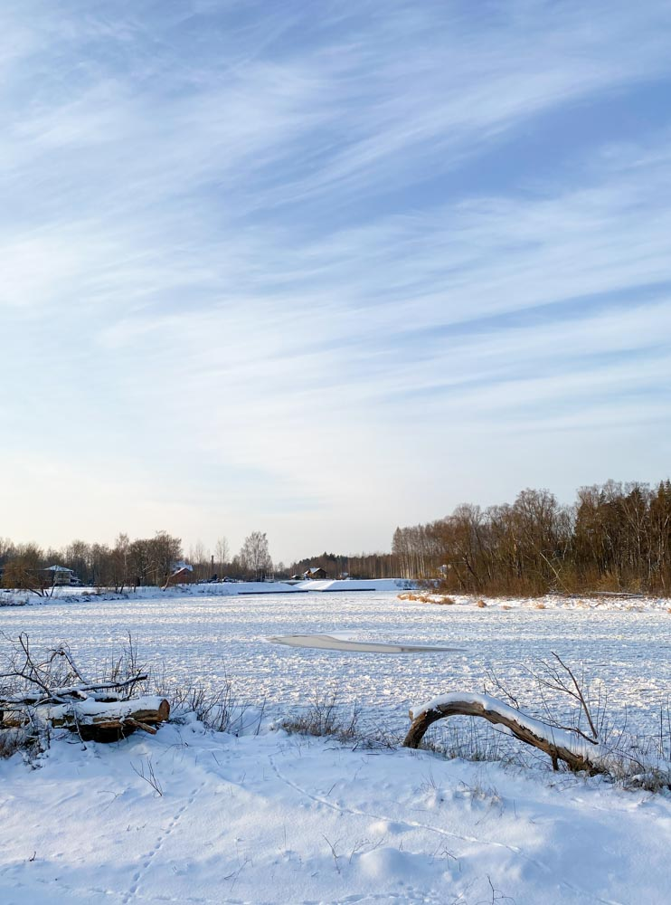 River Gauja during the winter