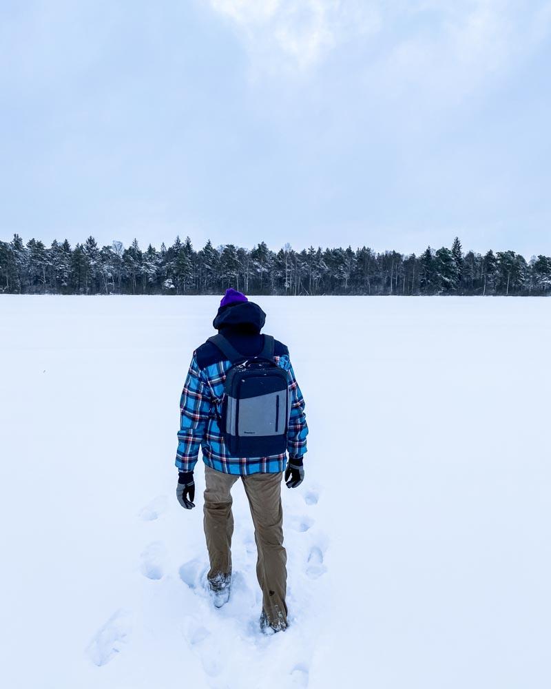Walking across fields