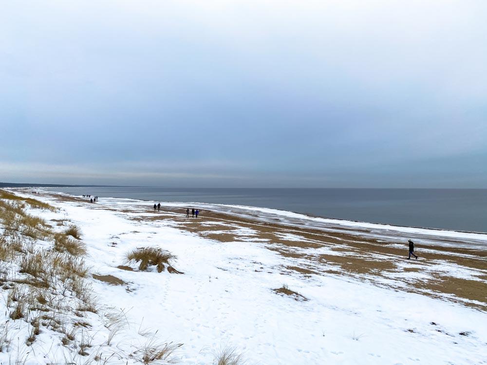 Walking on the Daugavgriva beach