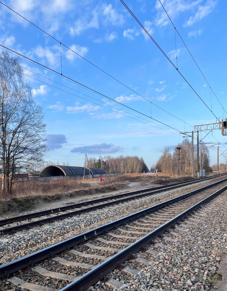 Railroad before the Old Jelgava road