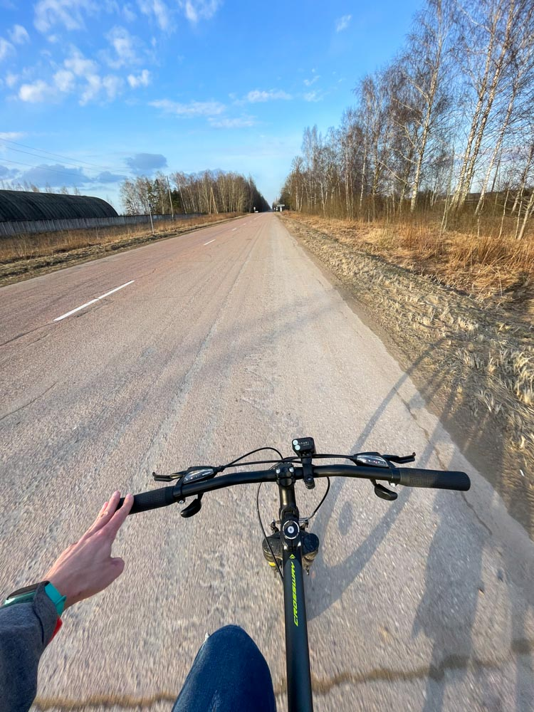 Cycling on the Old Jelgava road
