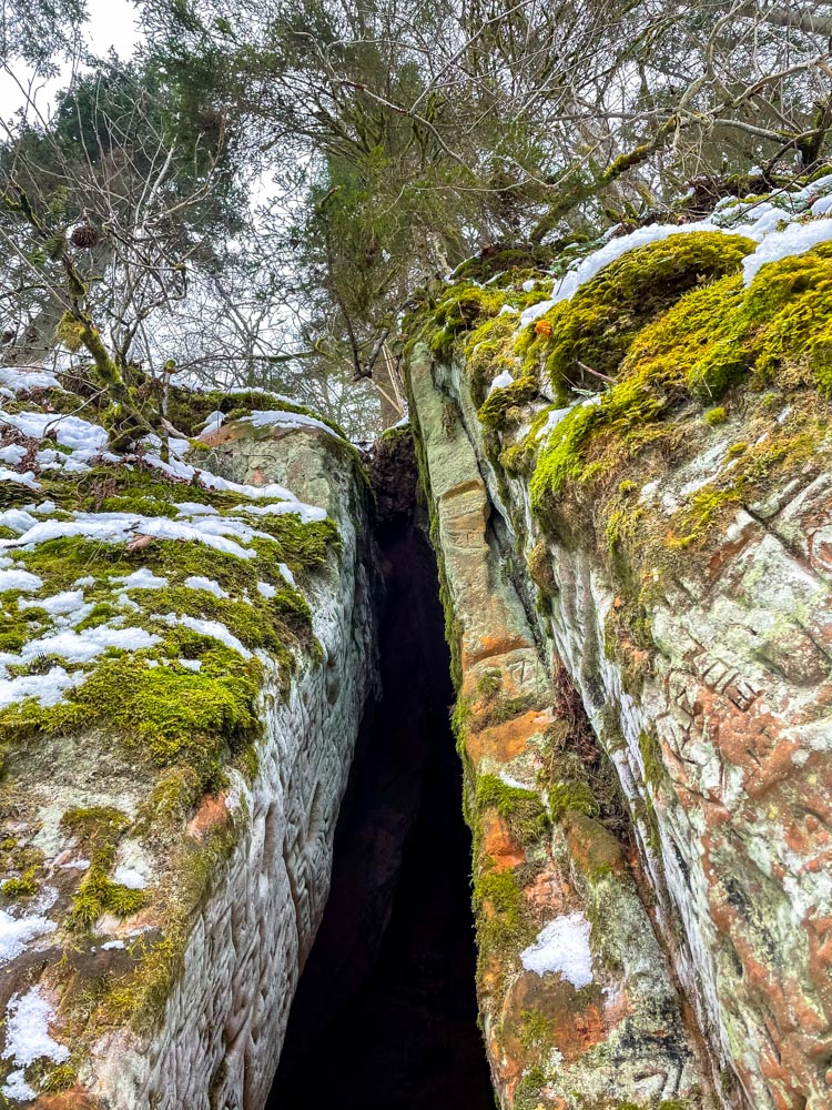 Tall cave near Sigulda