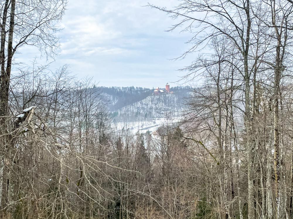 View from Paradise Hill in Sigulda