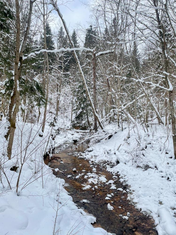 Winter hiking in Sigulda