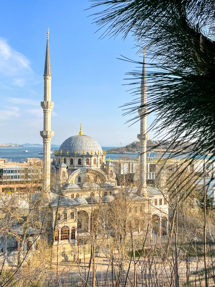 A mosque as seen from Craftsmen Park