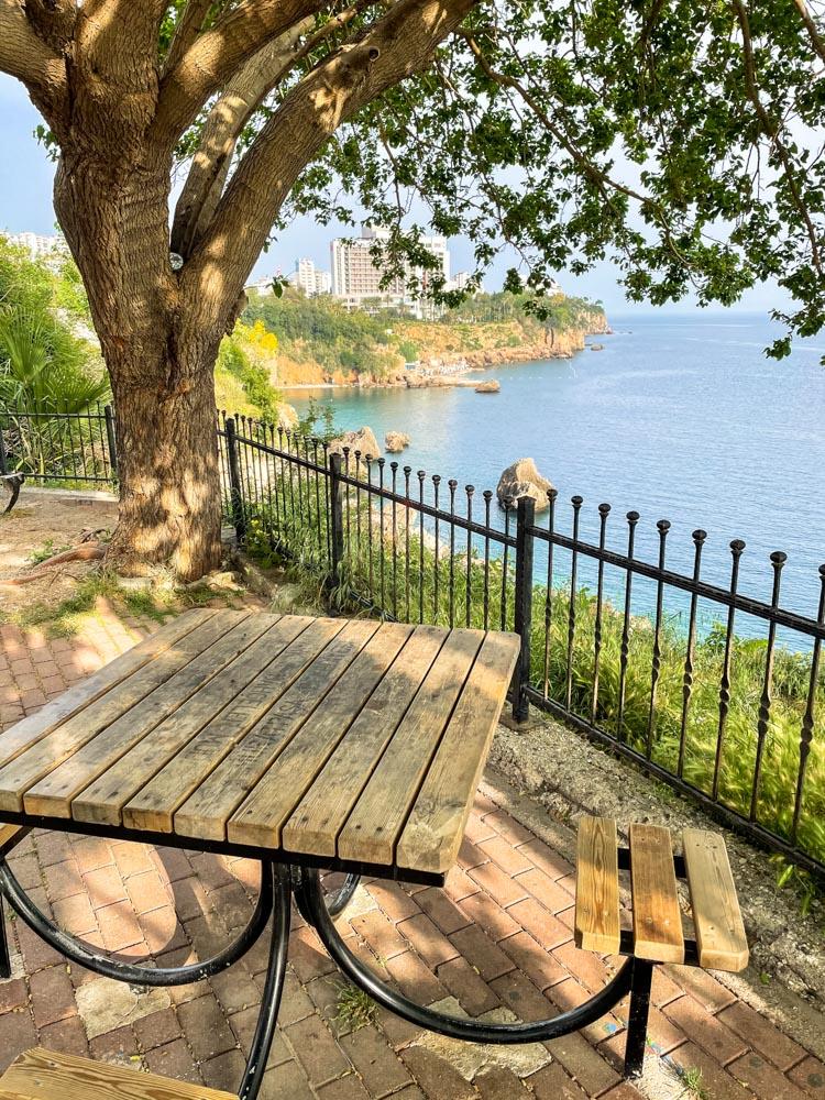 Benches in Falez Park in Antalya