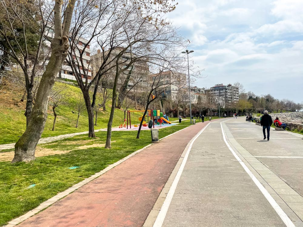Bike path on Asian side of Istanbul