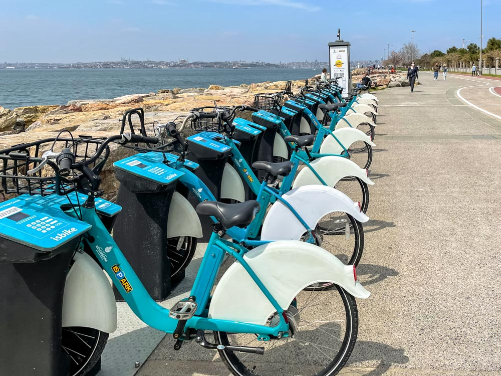 Bike sharing on Asian side of Istanbul