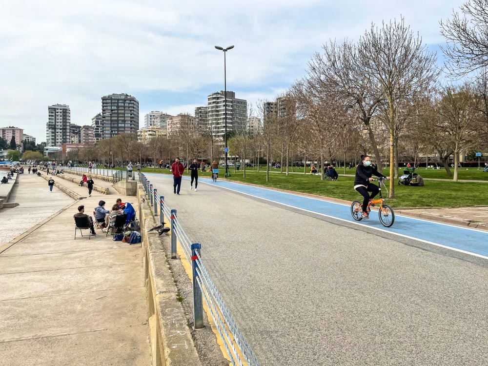 Coastal pathways on Asian side of Istanbul