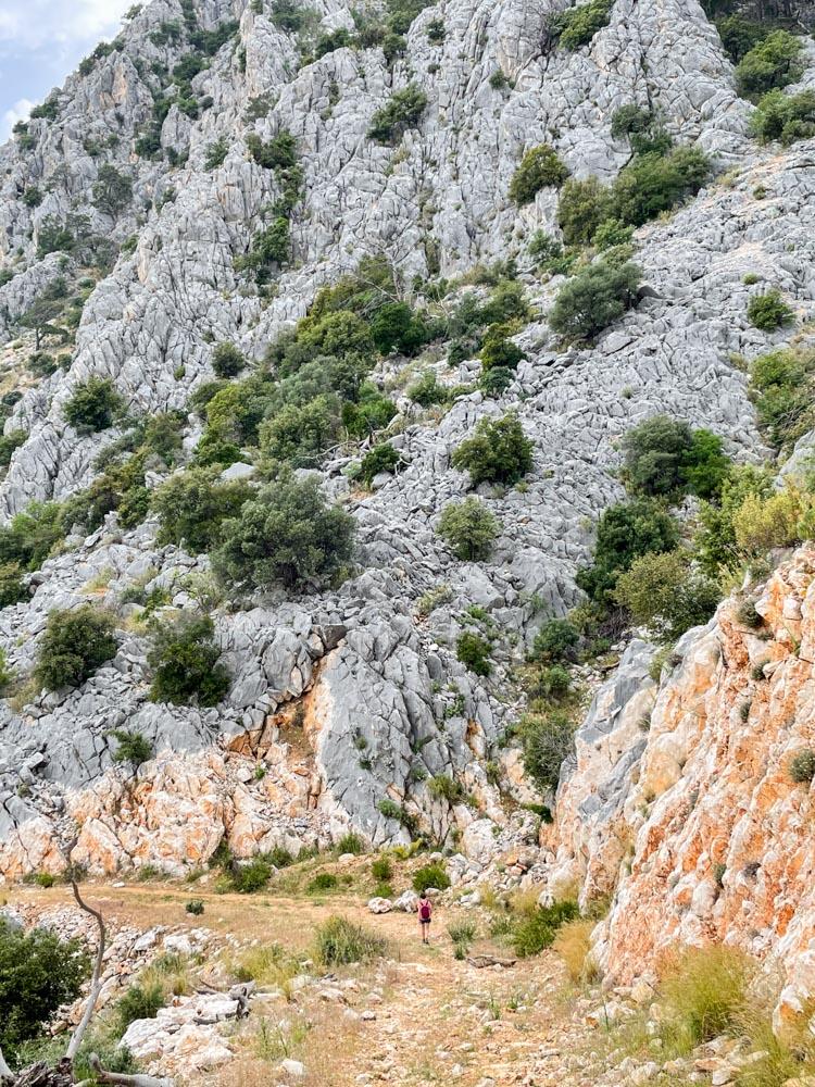 Hiking in mountains near Antalya