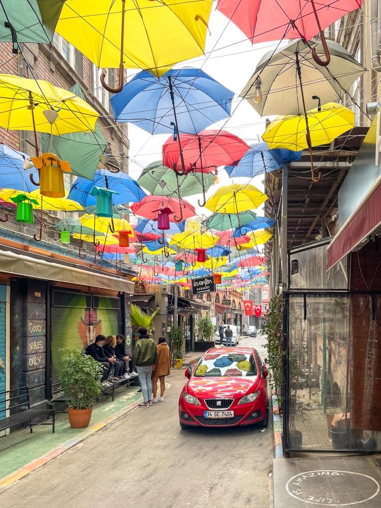 Istanbul Umbrella Street